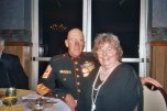 Sgt. Major Grant Beck at Dinner with Wife Nancy