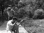 1955 shooting with buddy, Bob Gannett